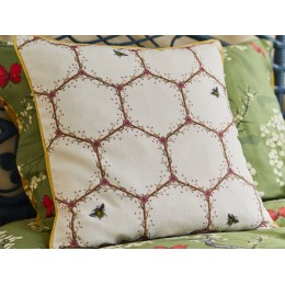 The Chateau by Angel Strawbridge Honeycomb Cream Cushion