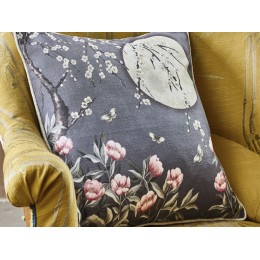 The Chateau by Angel Strawbridge Moonlight Midnight Blue Cushion