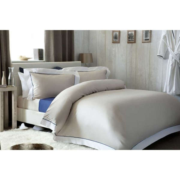 Chelsea Oyster with White Duvet Cover Sets
