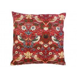 Gallery William Morris Strawberry Theif Red Minor Square Filled Cushions