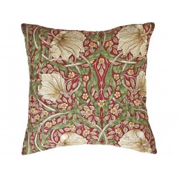 William Morris Pimpernel Red Square Filled Cushions
