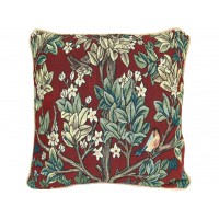 William Morris New Tapestry Filled Tapestry Tree Of Life Red Cushions