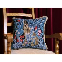 William Morris New Tapestry Filled Tapestry The Hare Cushions