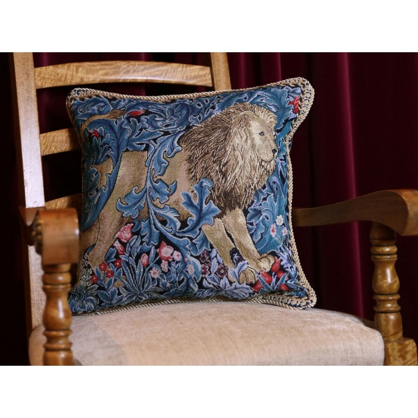 William Morris New Tapestry The Lion Cushions