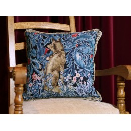 William Morris New Tapestry Filled Tapestry The Fox Cushions